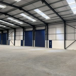 Lancashire Steel Buildings Industrial Unit Internal Structure Clitheroe